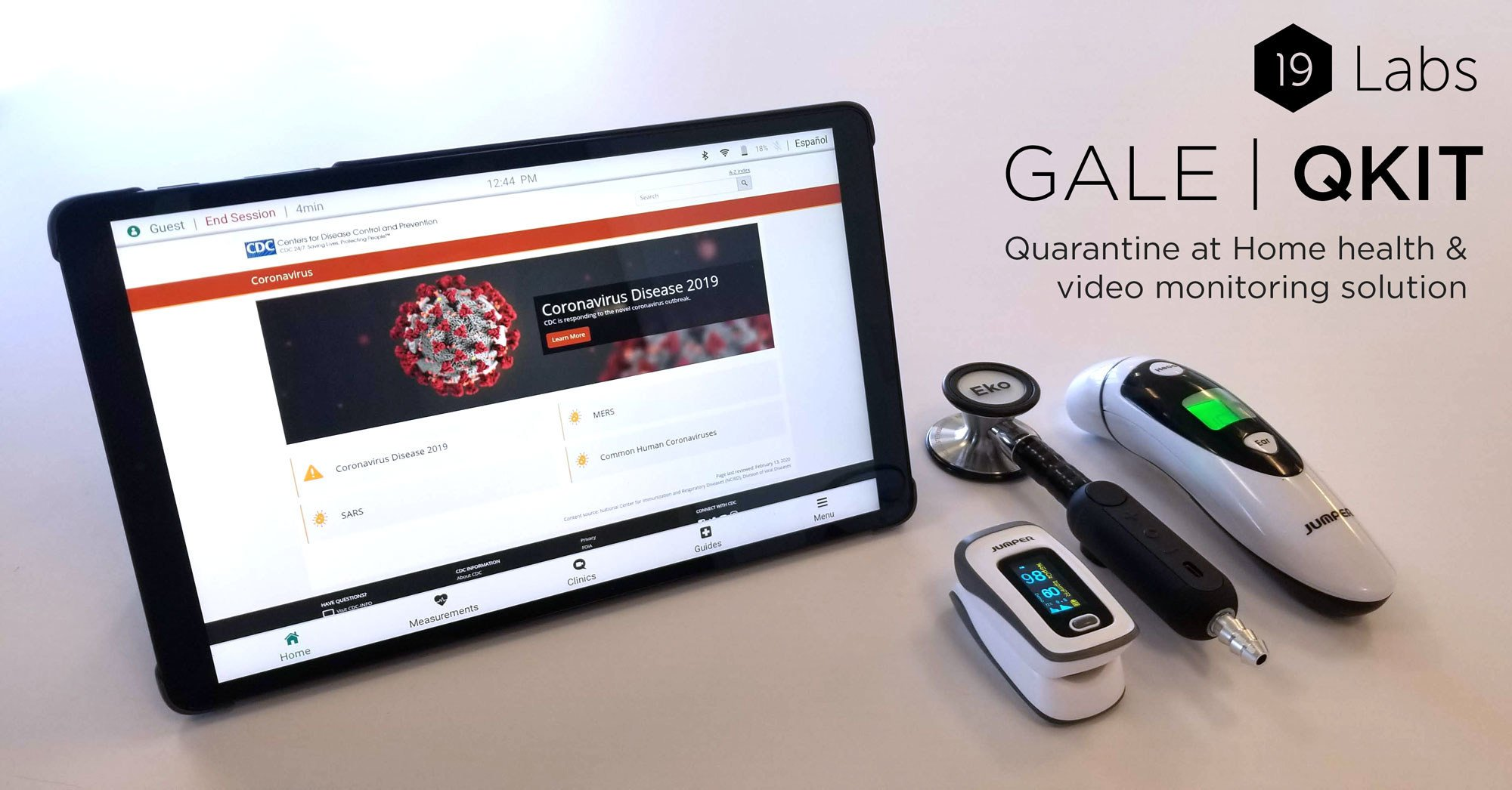 19 Labs – Quarantine monitoring & Telehealth solution