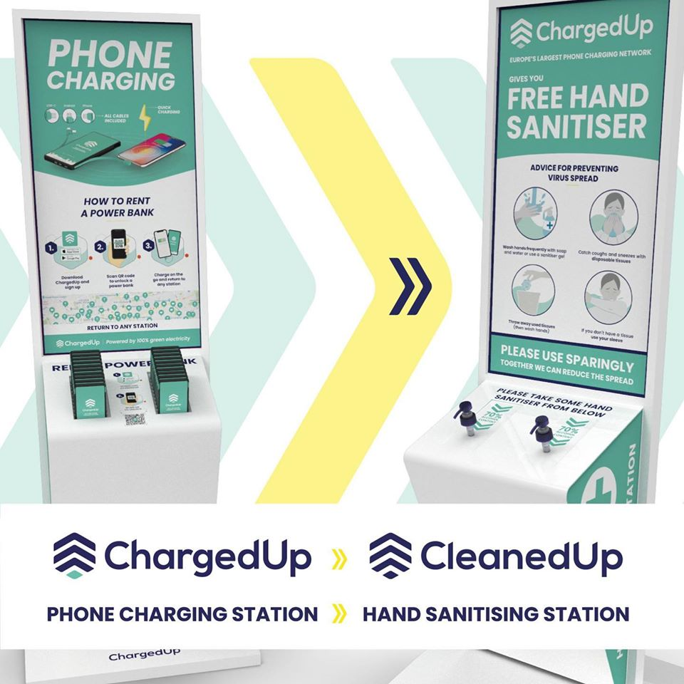 ChargedUp – Hand sanitation stations