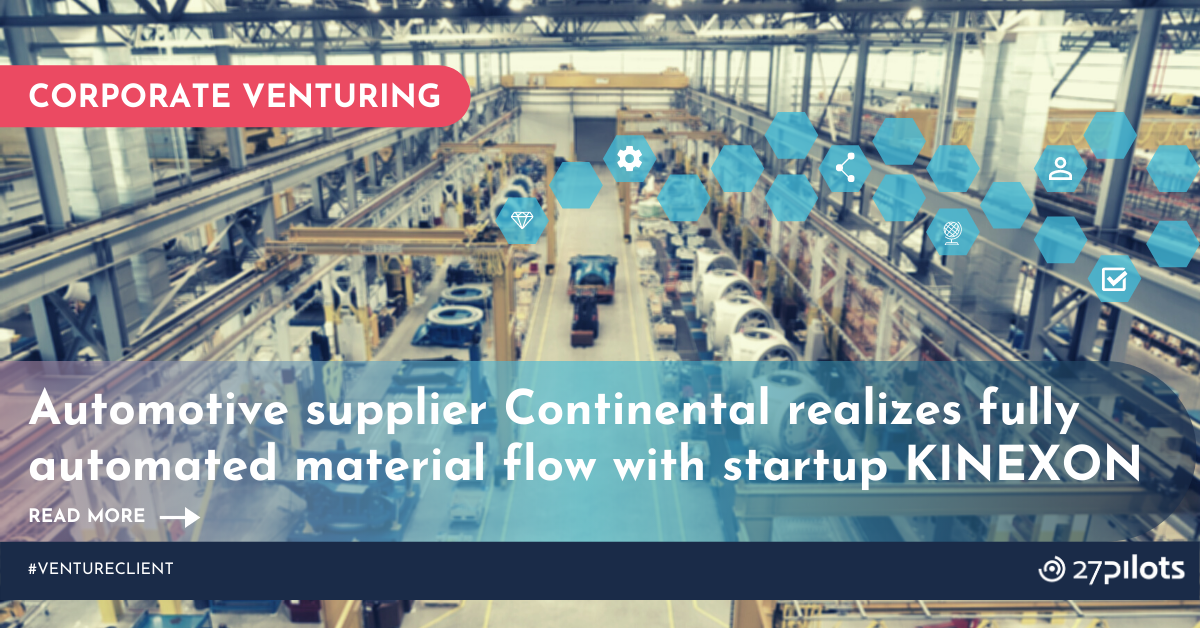 Automotive supplier Continental realizes fully automated material flow with startup KINEXON